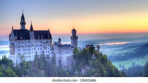Sunrise in Neuschwanstein
