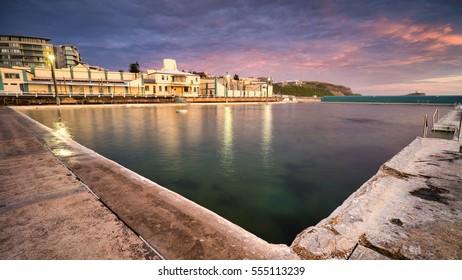 Sunrise at Newcastle Ocean Bath, Australia