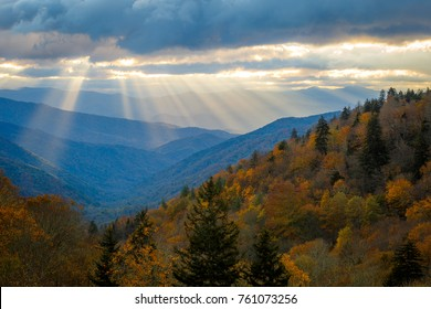 Sunrise at Newfound Gap in Great Smoky Mountains National Park