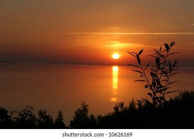 Sunrise in Nida, Lithuania