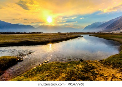 Sunrise at Nubra Valley, Leh Ladakh,Jammu and Kashmir, India