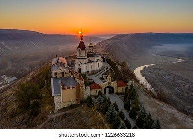 Sunrise at Old Orhei Monastery in Moldova Republic