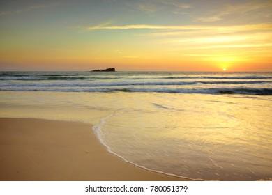 Sunrise at Old Women Island, Sunshine Coast.