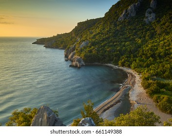 Sunrise at Olympos beach, Antalya, Turkey