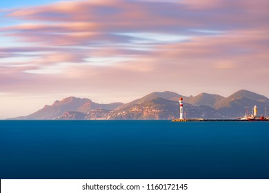 sunrise on bay of cannes