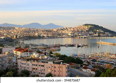 Sunrise on the bay in Kusadasi on the Agean Sea, Turkey