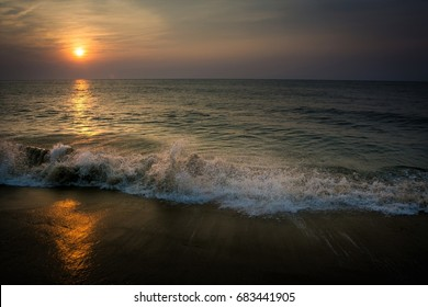 Sunrise on the Beach at Ocean City, Maryland U.S.A.