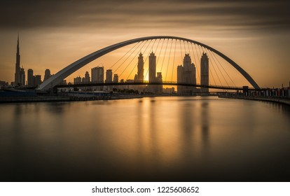 Sunrise on the beautiful city of Dubai