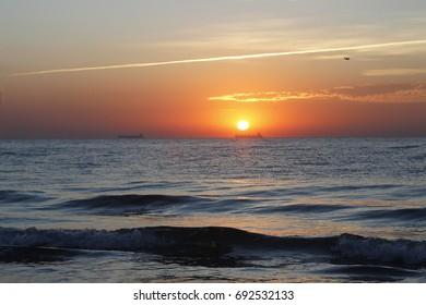 Sunrise on the Black Sea in Odessa
