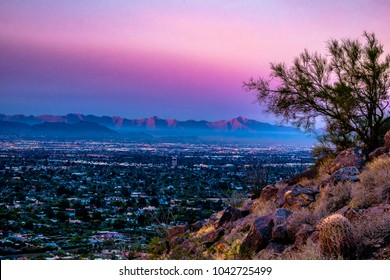 Sunrise on Camelback Mountain in Phoenix, Arizona