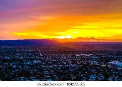 Sunrise on Camelback Mountain in Phoenix, Arizona