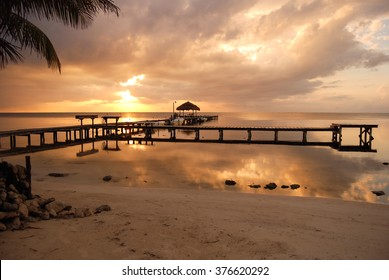 Sunrise on the coast of Belize