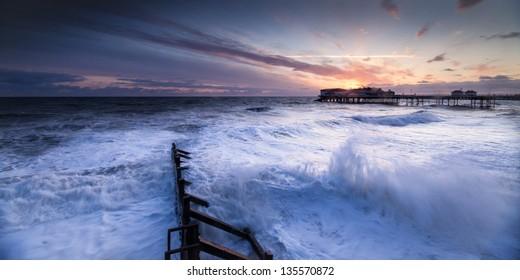 Sunrise on the coast at Cromer