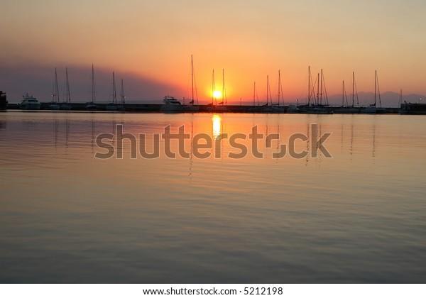 sunrise on the coast, Greece