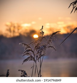 sunrise on a cold winter morning