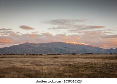 Sunrise on the farm in New Zealand