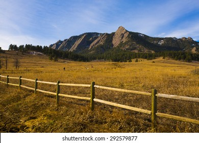 Sunrise on the Flatirons near Boulder, Colorado