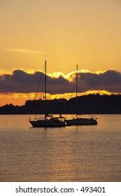 Sunrise on Grand Traverse Bay in Michigan.
