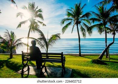 Sunrise on Hua Hin beach, Thailand