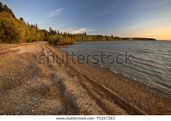Sunrise on Lake Winnipeg Manitoba Canada