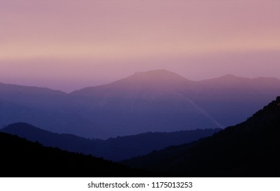 Sunrise on mountain glimpse
