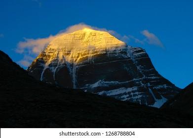 sunrise on mt kailash north face