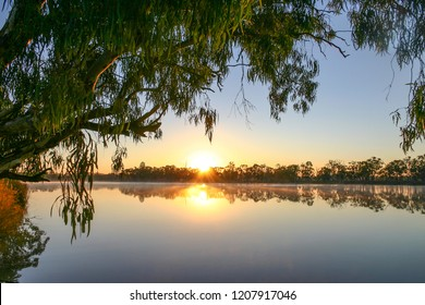 Sunrise on the Murray River in near Kingston-on-Murray in South Australia