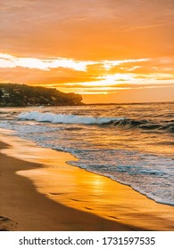 Sunrise on North Curl Curl beach in Sydney's Northern Beaches