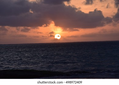 Sunrise on the Ocean Water