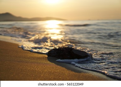 Sunrise on the peaceful beach