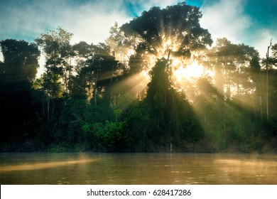 Sunrise on river Kinabatangan