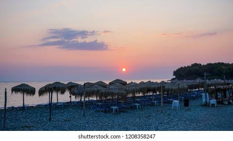 Sunrise on Samothraki island