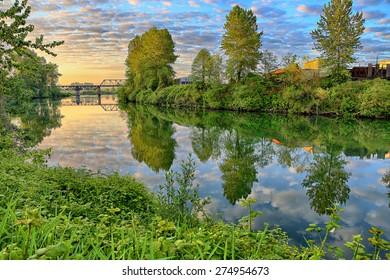 Sunrise on the Snohomish River