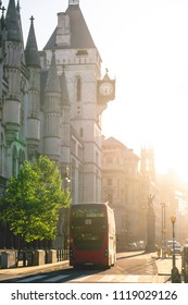 Sunrise on the Strand, London