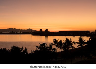 Sunrise on The Strand in tropical Townsville, Australia
