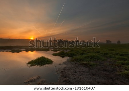 Golden Hour In Wingra Park >> Sunrise On Swamp Golden Hour Stock Photo Edit Now 191610407