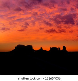 Sunrise on US 163 Scenic road to Monument Valley Park Utah