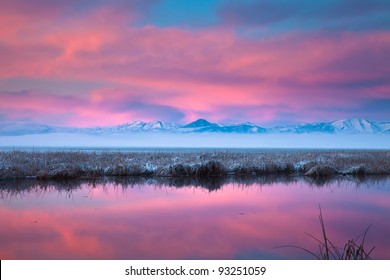 Sunrise on Utah Lake