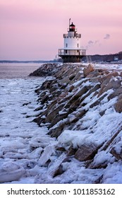 Sunrise on a Winter Morning at Lighthouse