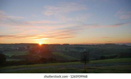 Sunrise over aberystwyth mountains