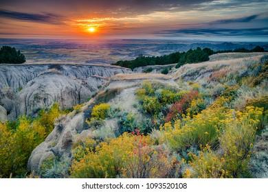 Sunrise over Badlands National Park, South Dakota