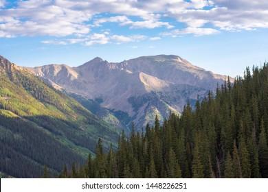 Sunrise over a beautiful mountain vista in the Sawatch Range of Colorado.