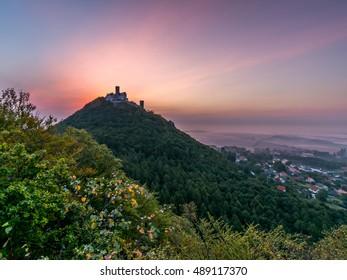 Sunrise over Bezdez castle, Czech Republic