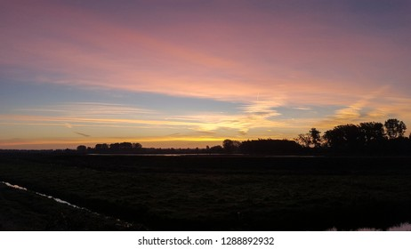 Sunrise over Biesbosch National Park, Netherlands