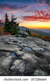 Sunrise over the Blue Ridge Mountains along the Blue Ridge Parkway in NC