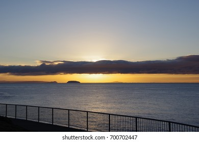 Sunrise over the Bristol Channel, Barry Island, South Wales UK