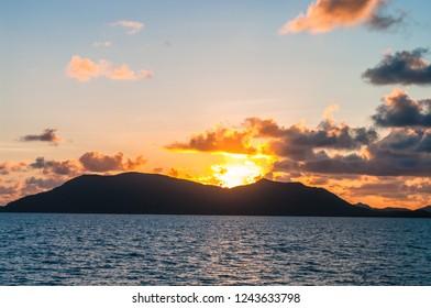 Sunrise over Cape Grafton, near Cairns, Queensland, Australia
