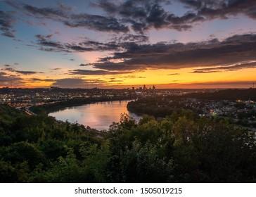 Sunrise Over the Cincinnati Skyline