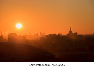 Sunrise over the city