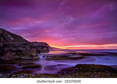 Sunrise over the coast of Western Australia